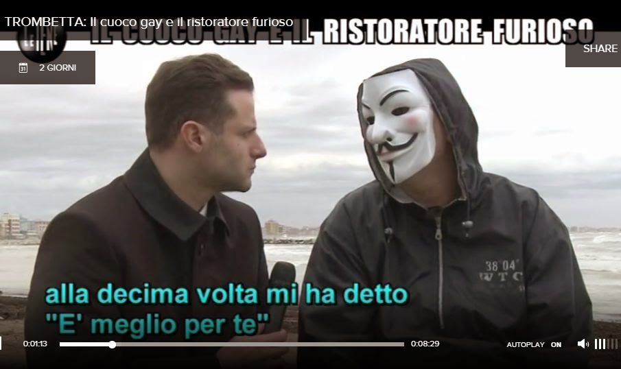 http://www.video.mediaset.it/video/iene/puntata/trombetta-il-cuoco-gay-e-il-ristoratore-furioso_512  310.html