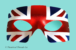 Union Jack Flag Masquerade Ball Eye Mask from Theatrical Threads Ltd