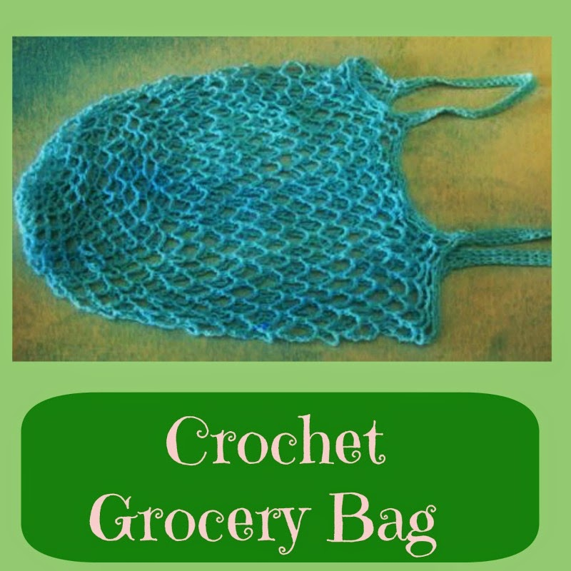 Crochet Grocery Bag : Going Grey and Slightly Green: Crochet Grocery Bag