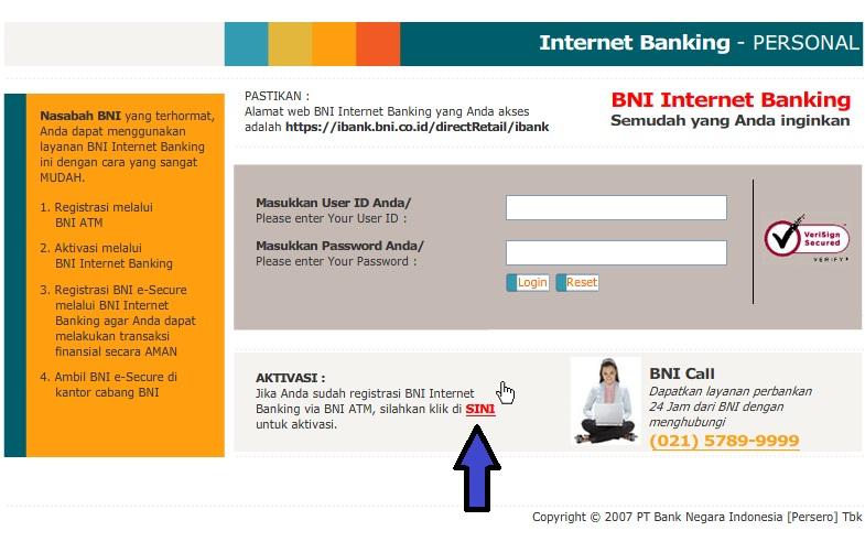 Cara Daftar dan Aktivasi Internet Banking BNI Dengan Mudah