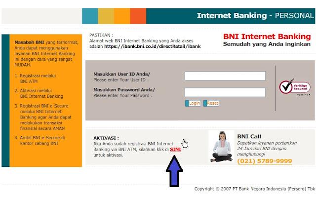2aktivasi+inet+banking+bni Panduan Online Banking