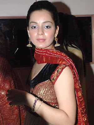 Kangana Ranaut Gold Chandelier Earrings