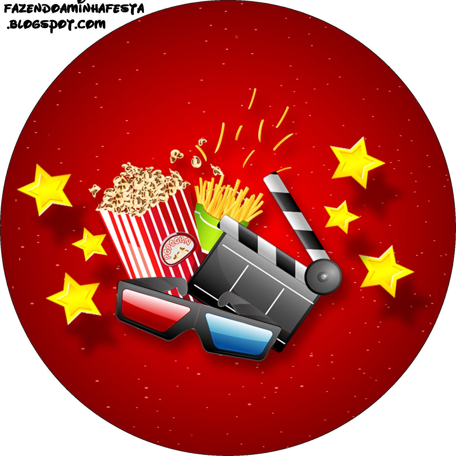 Cinema mini kit com molduras para convites r tulos para - Para ver fotos ...