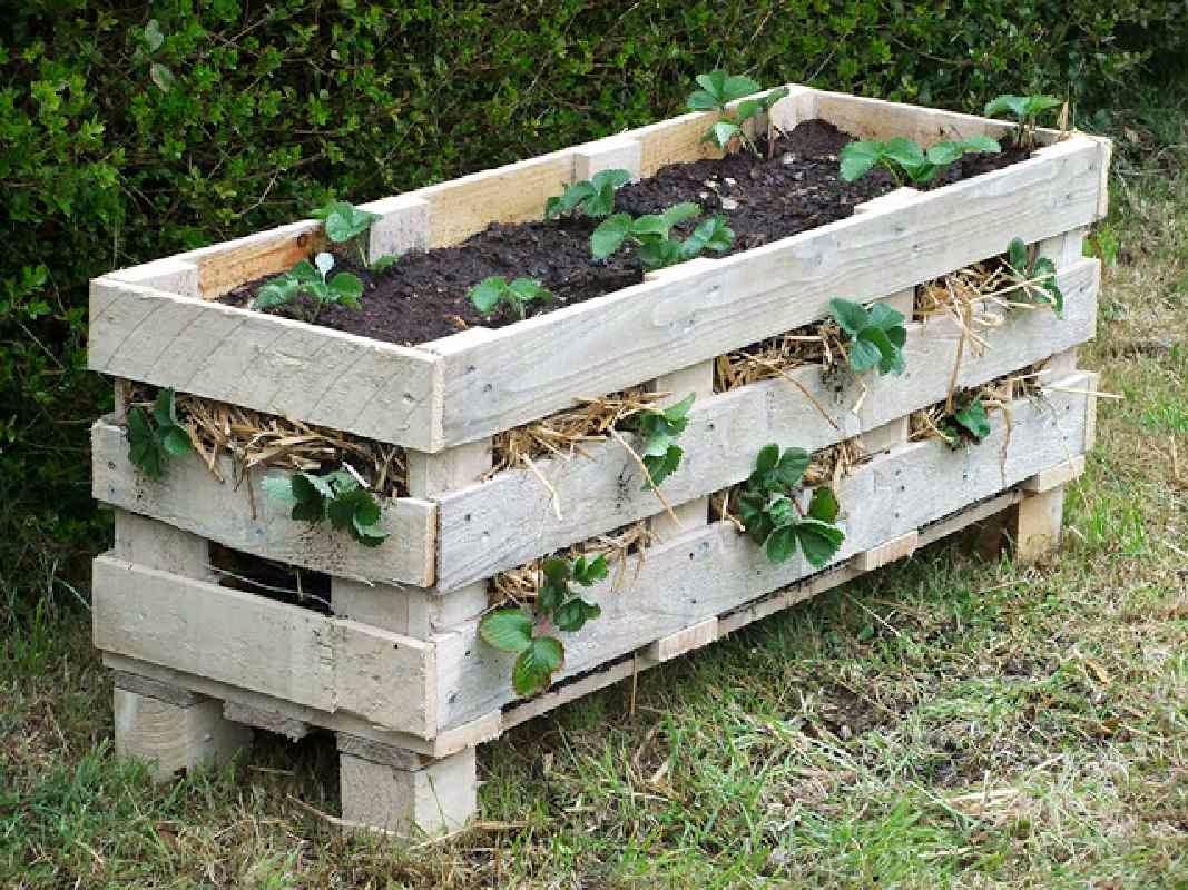 como hacer una jardinera con un solo palet