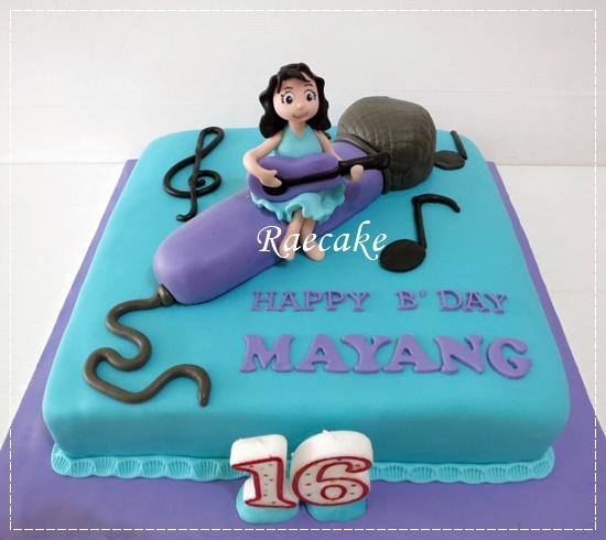 Musical Girl Cake for Mayang Kue Ulang Tahun Birthday Cake