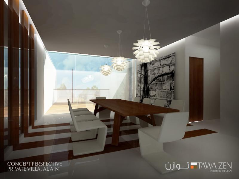 Tawazen interior design l l c private villa in alain for Private villa design