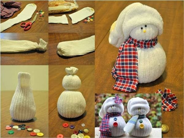 Christmas Sock Snowmen Craft