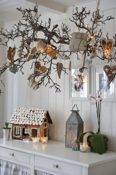 My scandinavian home pretty christmas decorating with