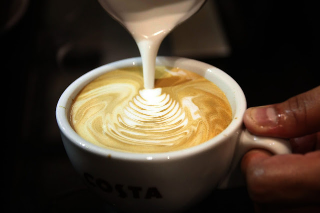 Costa Coffee Eastwood Manila Philippines Flat White
