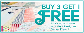 Buy 3 Get 1 Free on Designer Series Paper from Stampin' Up! during August 2013 - get yours here