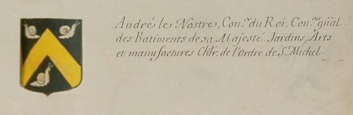 """Exposition """"Le Nôtre en perspective 1613-2013""""  Blason_Le_Notre_AGF_d%27Hozier"""
