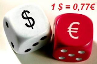 Equivalencia entre el euro y el dólar