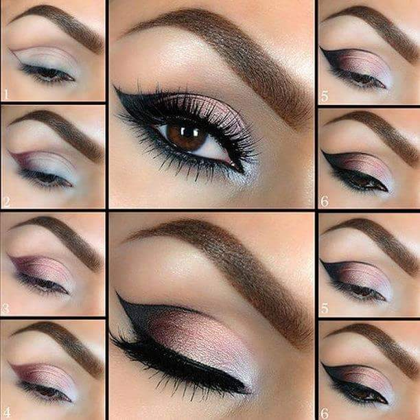 Beautiful eye makeup step by step