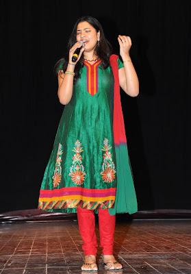 singer geetha madhuri at eega audio launch