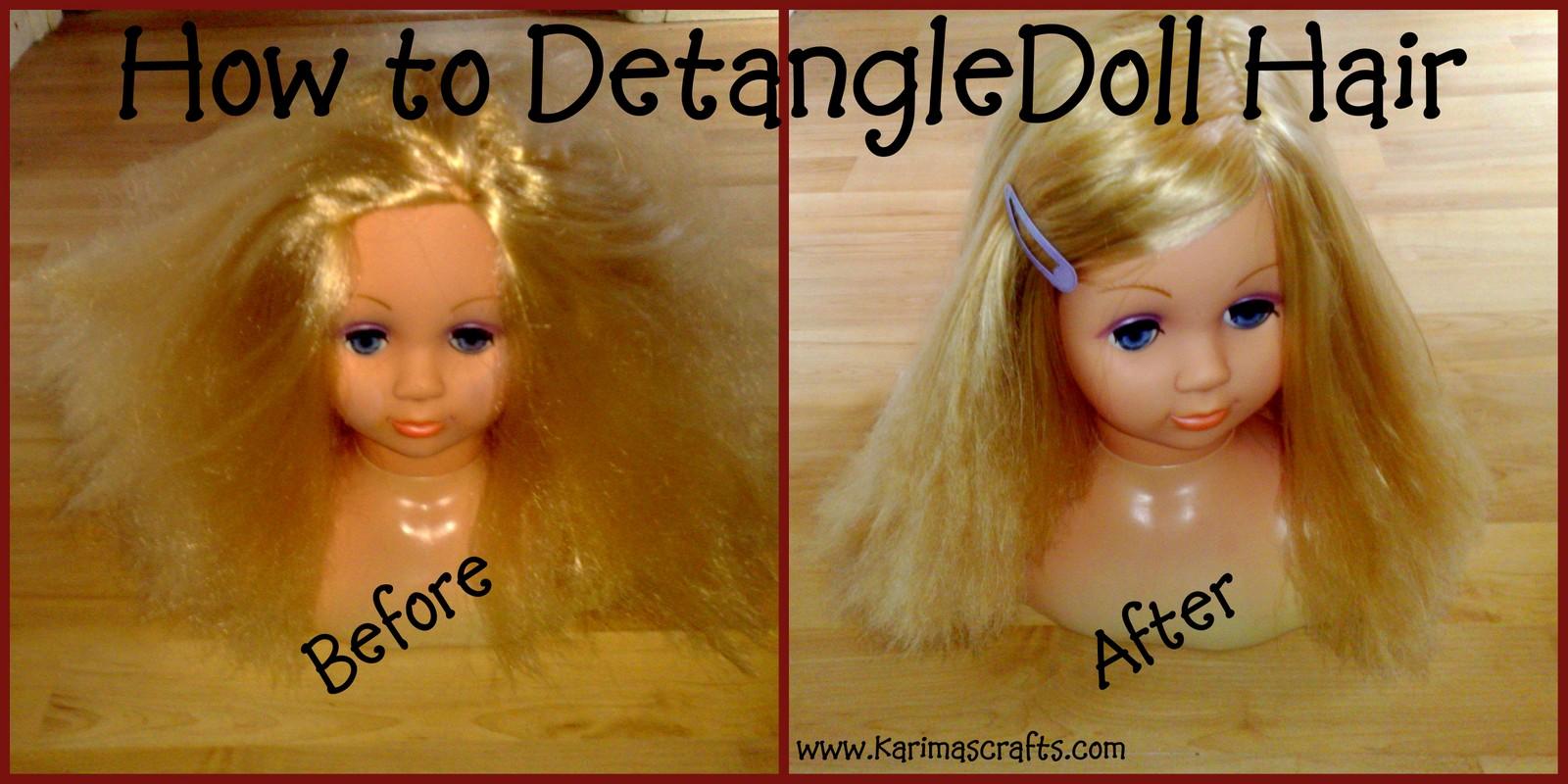 Выпряпить запутаные как кукле волосы