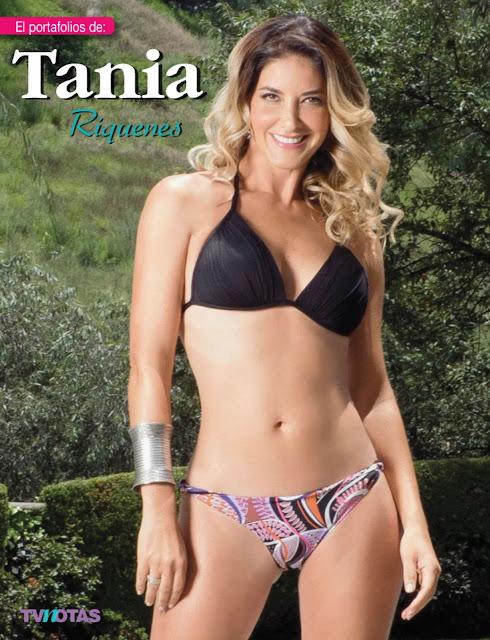 Tania Riquenes Bikini Tvnotas - Septiembre 2015