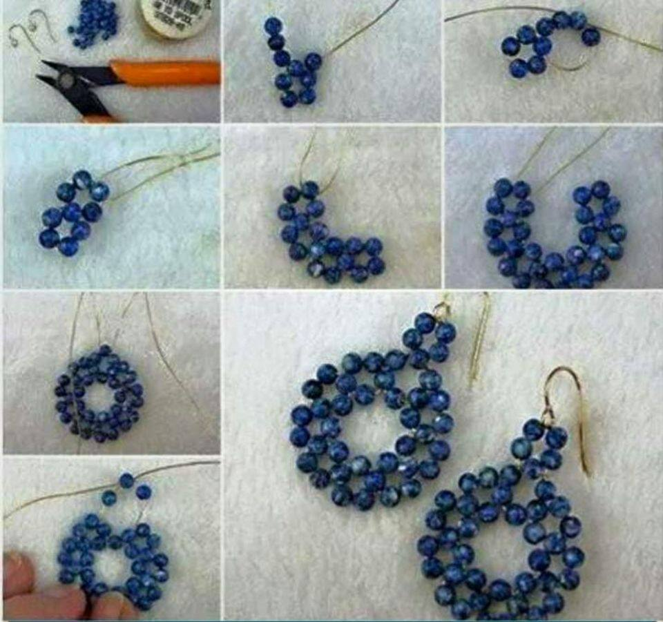 JLene\'s Creativity: DIY Beaded Earrings.