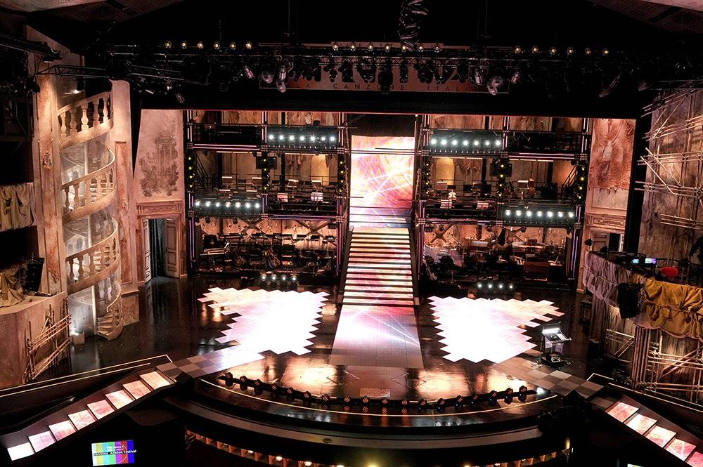 Divano & Sanremo: Sanremo 2014: la scenografia di Emanuela Trixie ...