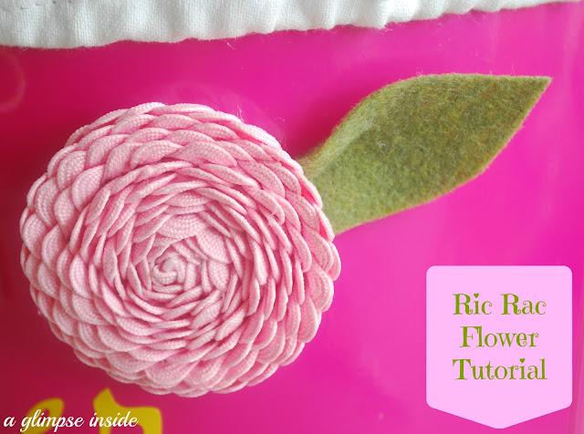 http://www.aglimpseinsideblog.com/2013/03/ric-rac-flower-tutorial.html