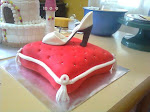 Cinderella's shoe and pillow cake