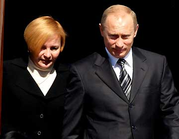 Vladimir Putin, President of Russia with wife Lyudmila Putina
