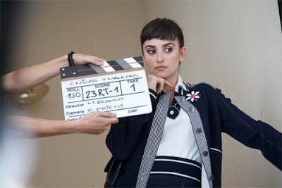 "Penélope Cruz as Magdalena ""Lena"" Rivero in Broken embraces (2009), shooting scene of the movie Elevator (directed by Mateo Blanco), Broken Embraces, Directed by Pedro Almodóvar"