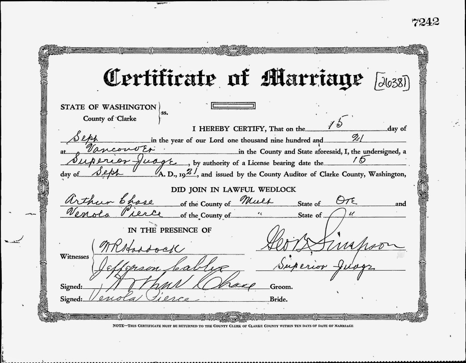 Slabtown chronicle october 2014 1921 marriage to venola pierce was at the heart of the fatal dispute he had with his ex partner lt phillip johnson courtesy of portland city archive aiddatafo Choice Image