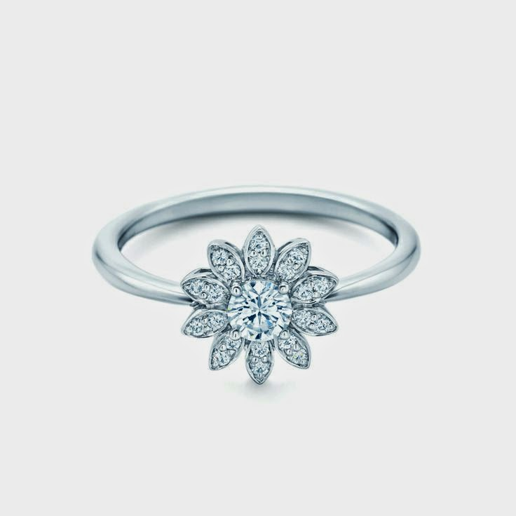 flower engagement ring with diamonds jewellery. Black Bedroom Furniture Sets. Home Design Ideas