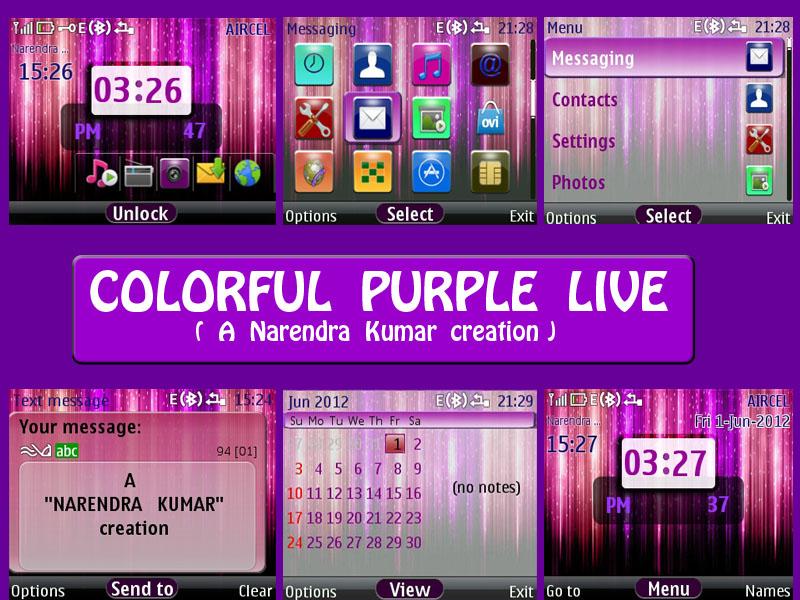 Narendra's Themes: Colorful Purple Live