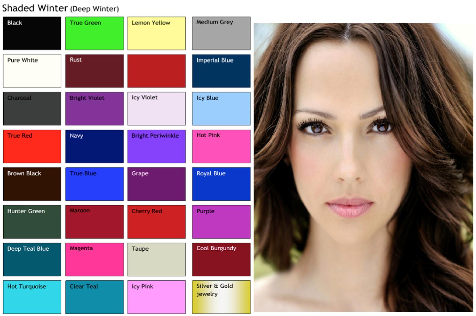 Цветотип зима примеры макияжа