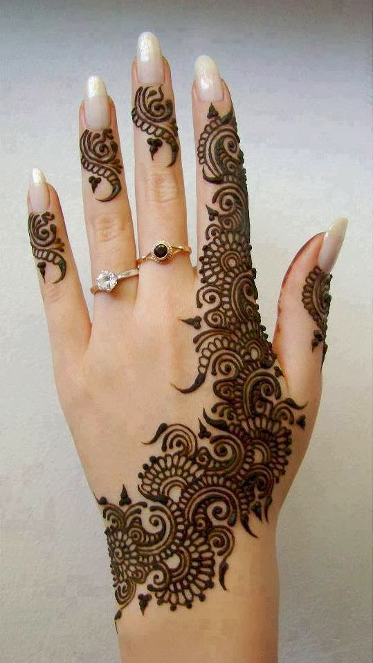 Mehndi For Back Hands : Mehendi designs back hand henna