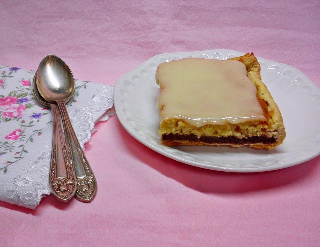 Tartaleta de Frambuesa con Almendra y Glaseado de Vainilla.