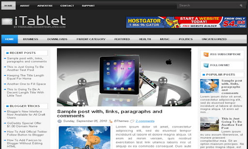 iTablet Blogger Template
