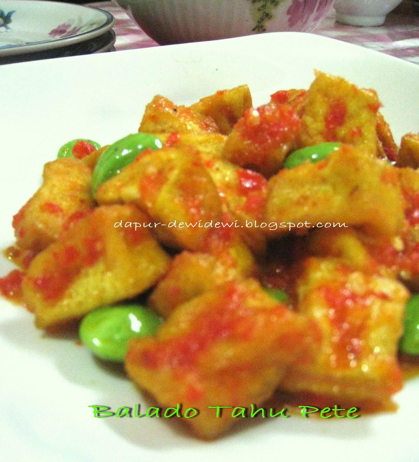 Dapur Kreasiku Nugget Tahu: Dewi@kitchen: Balado Tahu Pete