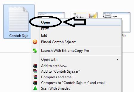 Buka file yang telah disimpan