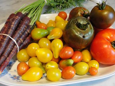 farmers' market veggies
