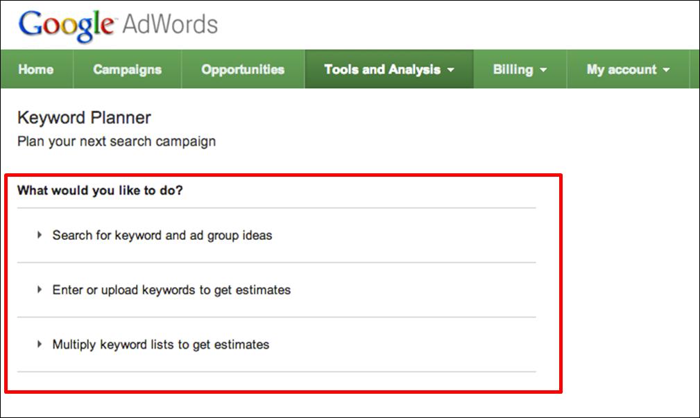 Image result for google keyword planner keyword upload