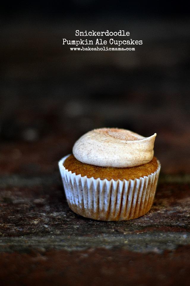 Bakeaholic Mama: Snickerdoodle Pumpkin Ale Cupcakes