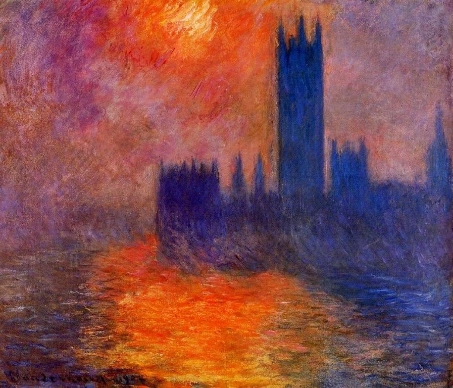 Claude Monet Le Parlement, coucher de soleil. 1904 Cristie's. 1989
