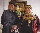 Ζευγάρι Ελλήνων Αρβανιτών από το Καματερό.