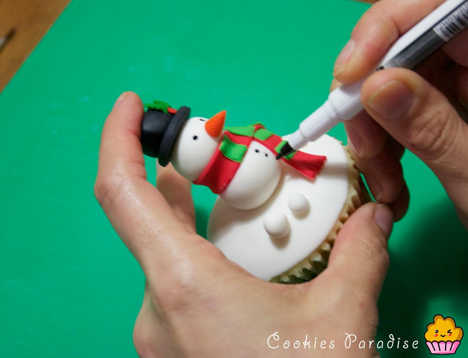Cookies paradise receta de cupcakes navide os y como - Como hacer cosas para navidad ...