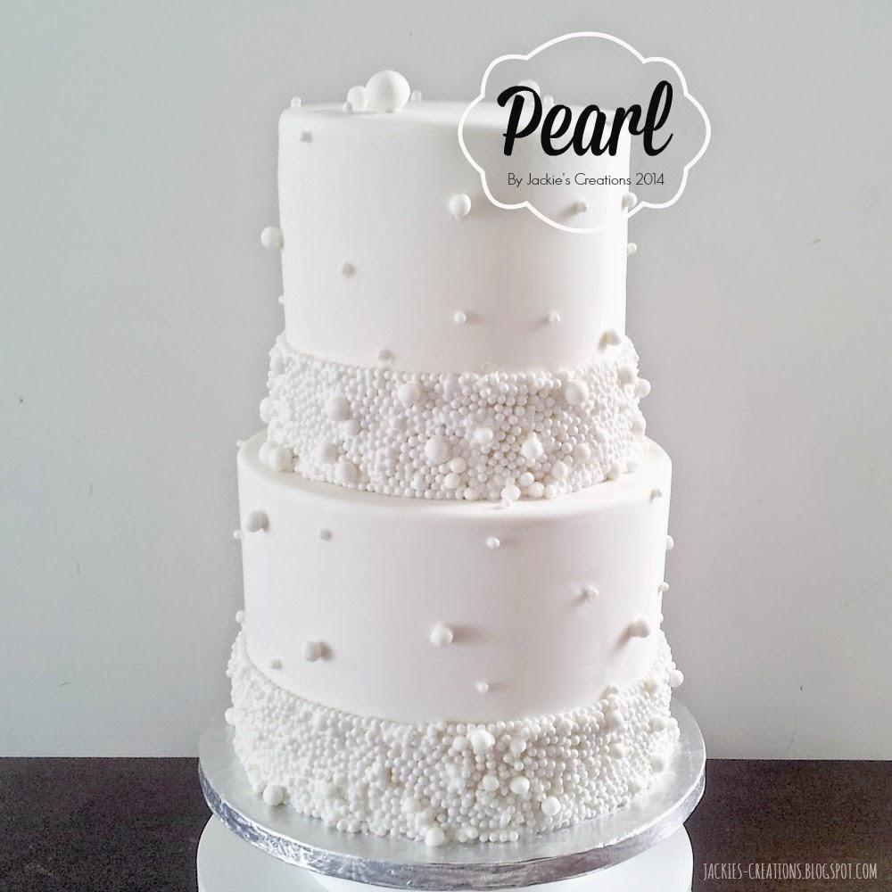 Jackies Creations Pearl Wedding Cake