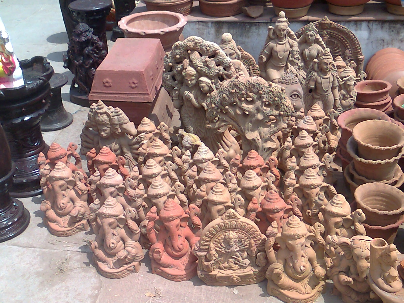 ganesh clay idol eco friendly