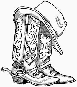Cowboy Boots And Cowboy Hat Drawing Hd Shoe Clip Art
