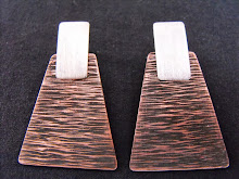 Aros Plata acabado mate, cobre texturado y envejecido (213)
