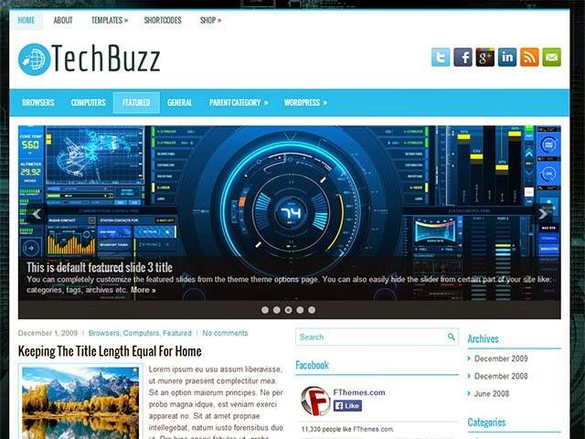 Chia sẻ TechBuzz Responsive Blogger Template cho trang công nghệ