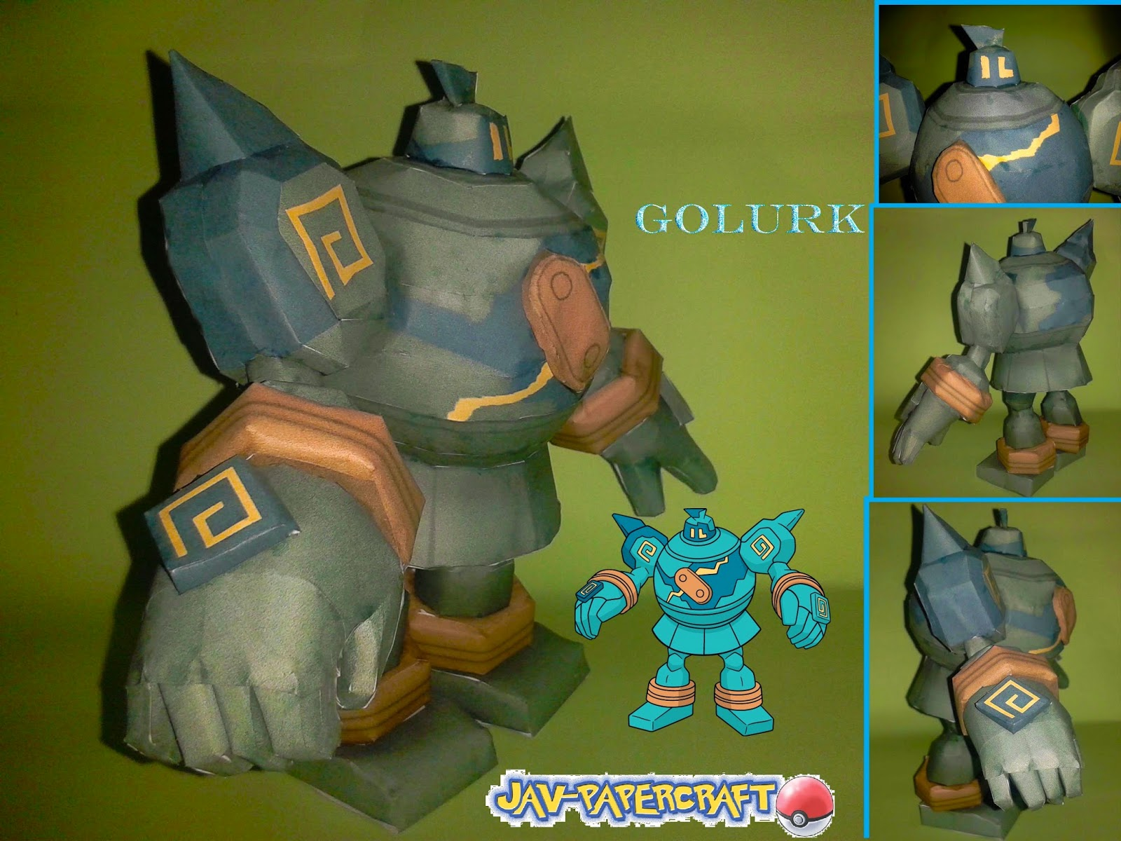 POkemon GOlurk Paper Model