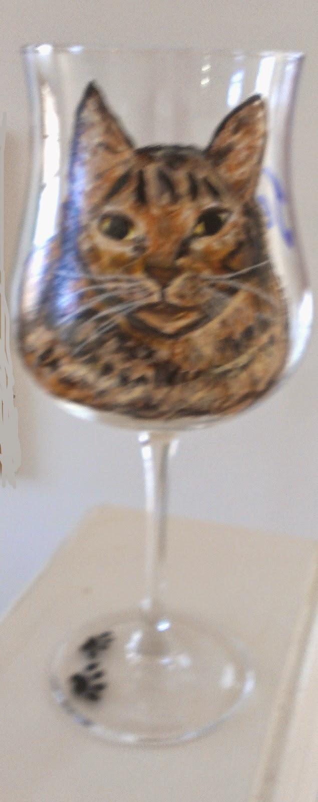 cat wine glass, animal wine glass