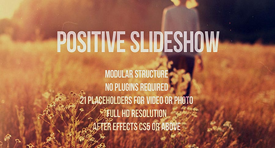 After Effects Templates : Positive Slideshow - Videohive 11855267