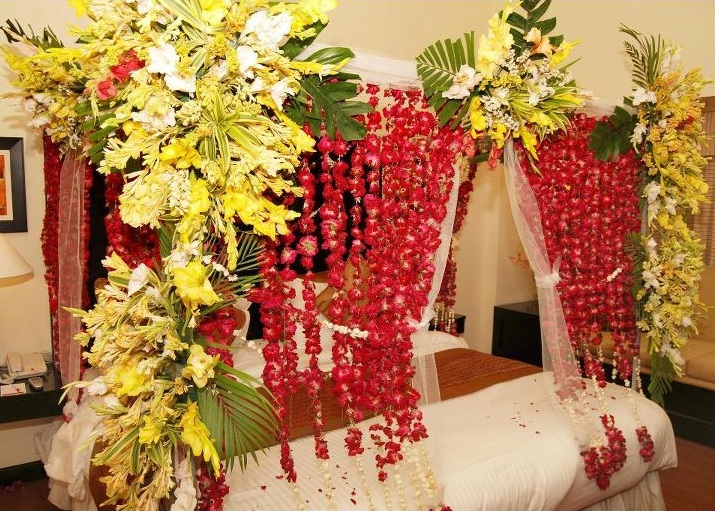 Bridal Bed Room Decoration By Best Decorators In Gurgaon Bridal Bed